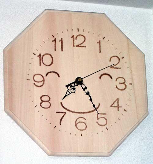 八角形 時計 風水